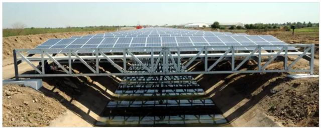 Canal Top Solar Power Plant
